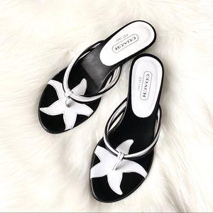Coach Shoes - Authentic Coach Leather Kitten Heel Sandals